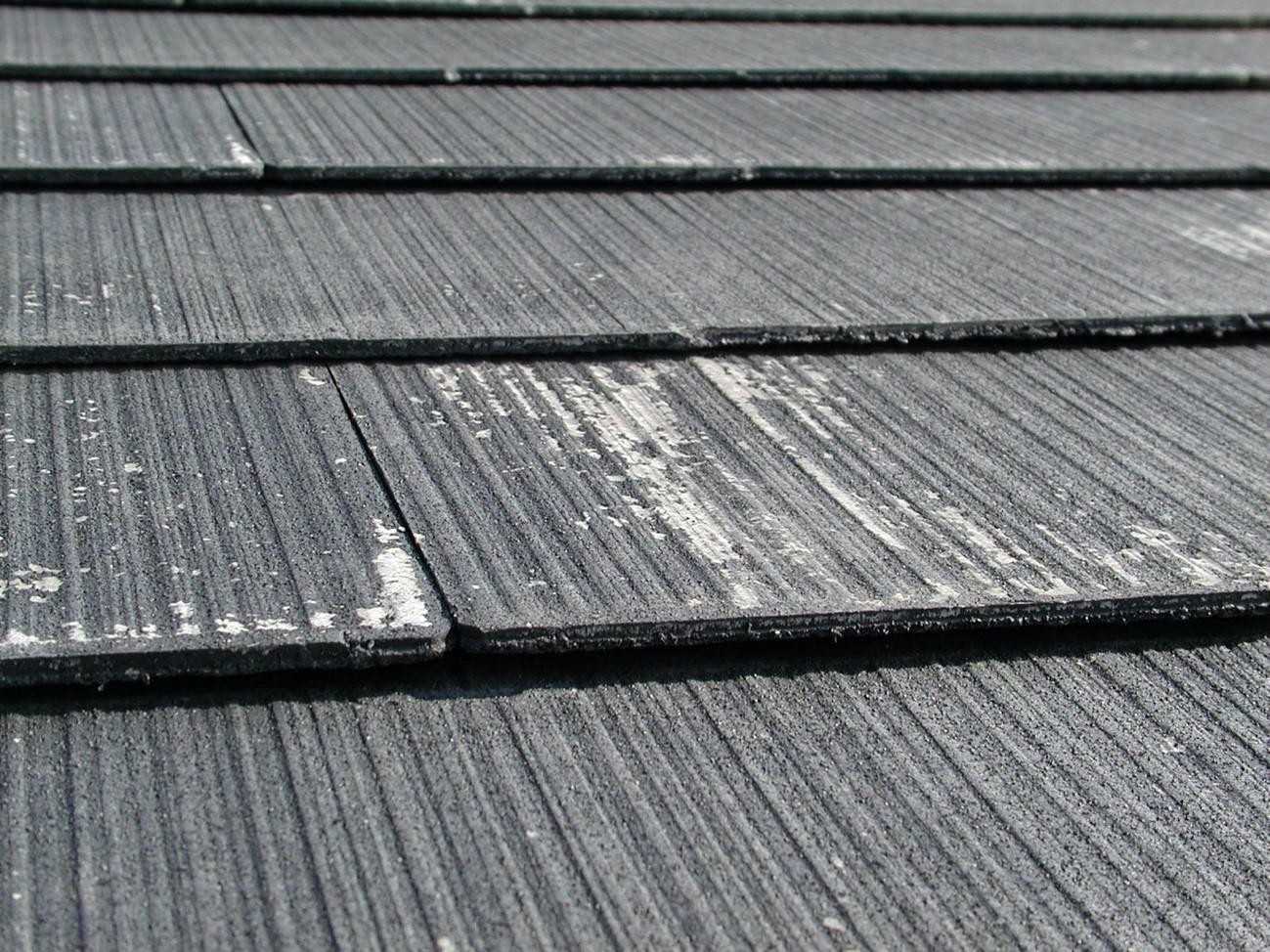 屋根材の変色・棟板金の塗膜剥がれ
