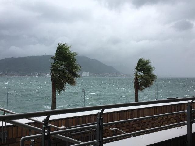 台風の多い地域